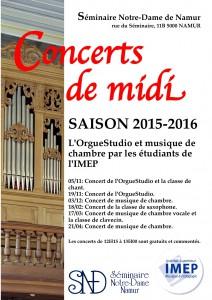 Affiche Concerts de midi SND